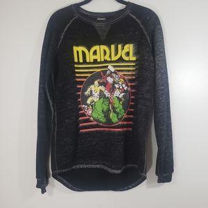 MARVEL retro Avengers burnout fleece sweatshirt